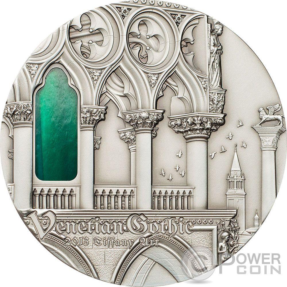 Venetian Gothic tiffany art venetian gothic 2 oz silver coin 10$ palau 2013