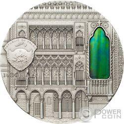TIFFANY ART VENETIAN GOTHIC 2 Oz Серебро Монета 10$ Палау 2013
