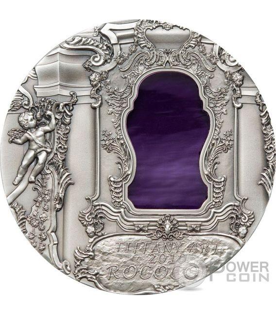 TIFFANY ART ROCOCO 2 Oz Silver Coin 10$ Palau 2010