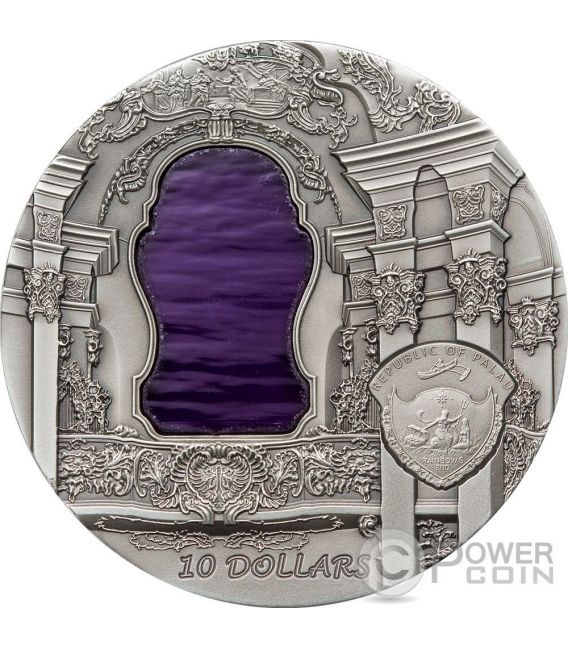 TIFFANY ART ROCOCO 2 Oz Moneda Plata 10$ Palau 2010
