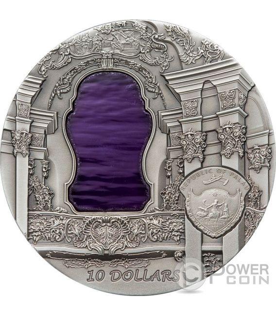 TIFFANY ART ROCOCO Moneta Argento 2 Oz 10$ Palau 2010