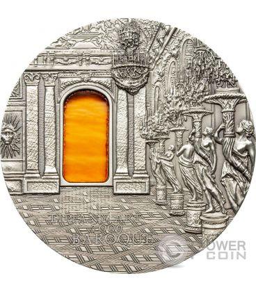 TIFFANY ART BAROQUE Barocco Hall of Mirrors 2 Oz Moneta Argento 10$ Palau 2009