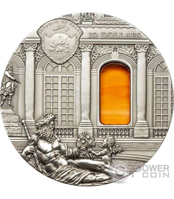 TIFFANY ART BAROQUE Barroco Hall of Mirrors 2 Oz Moneda Plata 10$ Palau 2009