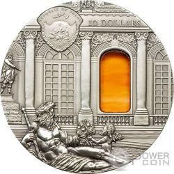 TIFFANY ART BAROQUE Hall of Mirrors 2 Oz Серебро Монета 10$ Палау 2009