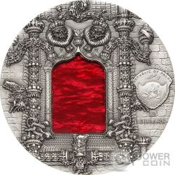 TIFFANY ART MANUELINE 2 Oz Серебро Монета 10$ Палау 2011
