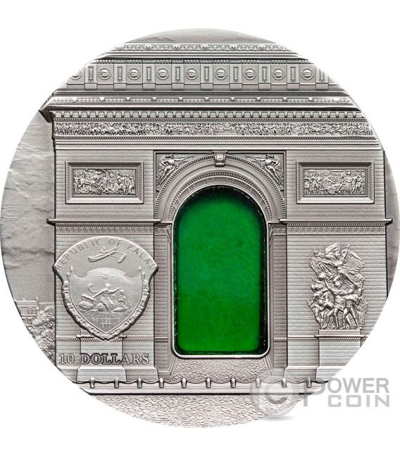 TIFFANY ART NEOCLASSICISM 2 Oz Moneda Plata 10$ Palau 2012