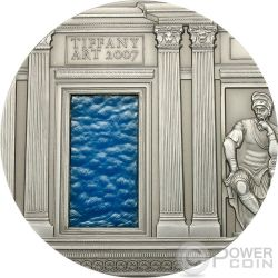 TIFFANY ART RENAISSANCE Michelangelo 2 Oz Moneda Plata 10$ Palau 2007