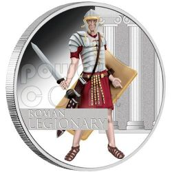 LEGIONARIO ROMANO Grandi Guerrieri Moneta Argento 1$ Tuvalu 2010