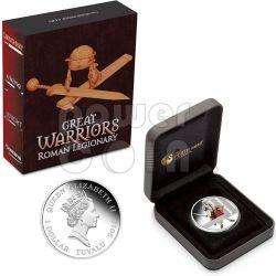 ROMAN LEGIONARY Great Warrior Silver Coin 1$ Tuvalu 2010