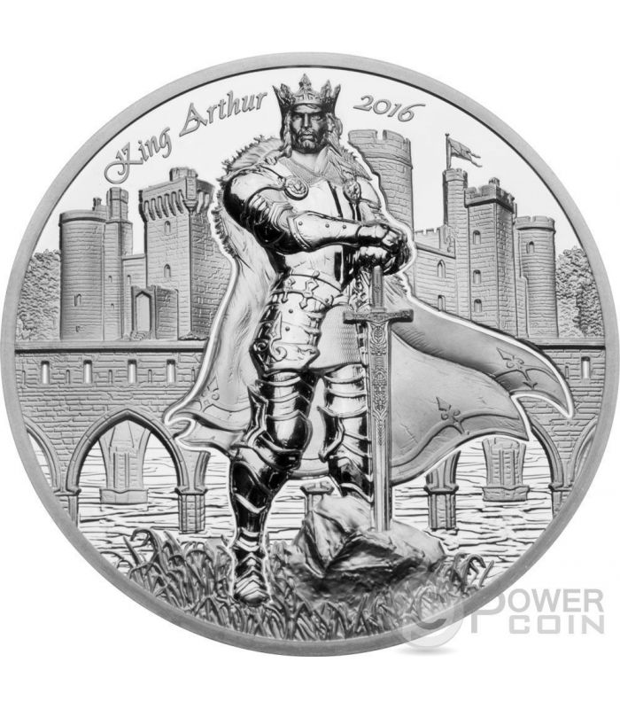 King Arthur Camelot Knights Round Table 2 Oz Silver Coin