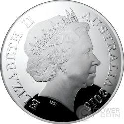 CYGNUS CONSTELLATION Northern Sky Curved Domed Moneda Plata 5$ Australia 2016