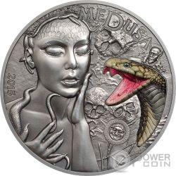 MEDUSA Mythical Creatures 2 Oz Silver Coin 10$ Palau 2015