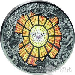 SAINT PETER BASILICA Windows Of Heaven Giants 10 Oz Silber Münze 40$ Cook Islands 2016