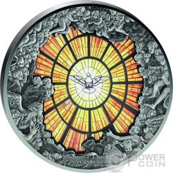 SAINT PETER BASILICA Windows Of Heaven Giants 10 Oz Silver Coin 40$ Cook Islands 2016