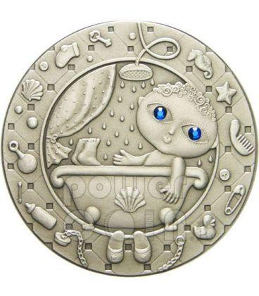 ACQUARIO Oroscopo Zodiaco Swarovski Moneta Argento Bielorussia 2009