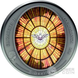 SAINT PETER BASILICA Windows Of Heaven Giants 10 Oz Серебро Монета 40$ Острова Кука 2016