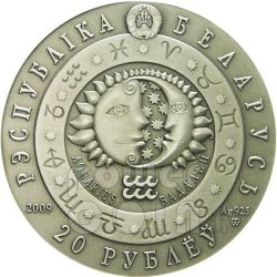 AQUARIUS Horoscope Zodiac Swarovski Moneda Plata Belarus 2009
