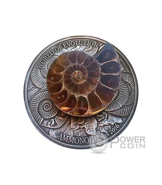 Ammonite World Of Evolution 1 Oz Silver Coin 1000 Francs