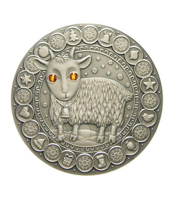 CAPRICORN Horoscope Zodiac Swarovski Silver Coin Belarus 2009