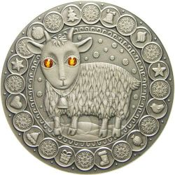 CAPRICORN Horoscope Zodiac Swarovski Серебро Монета Белоруссия 2009