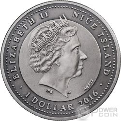ATTENDANT ANGEL Swarovski Silver Coin 1$ Niue 2016