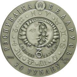 CAPRICORNO Oroscopo Zodiaco Swarovski Moneta Argento Bielorussia 2009
