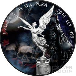 SANTA MUERTE Mexican Libertad 1 Oz Moneda Plata Mexico 2016