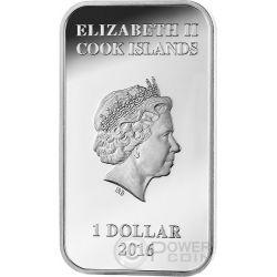 TASMANIAN DEVIL Australian Apex Predators 1 Oz Silver Coin 1$ Cook Islands 2016