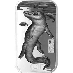SALTWATER CROCODILE Australian Apex Predators 1 Oz Silver Coin 1$ Cook Islands 2016
