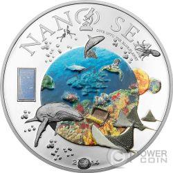 NANO SEA Dive Into The Blue Planet Серебро Монета 10$ Острова Кука 2014