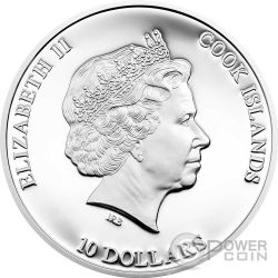 NANO SEA Dive Into The Blue Planet Silver Coin 10$ Cook Islands 2014