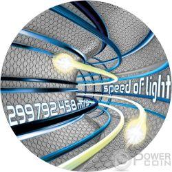 SPEED OF LIGHT Velocita Luce Code Of The Future 2 Oz Moneta Argento 2$ Niue 2016