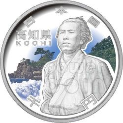 KOCHI 47 Prefectures (8) Silver Proof Coin 1000 Yen Japan Mint 2010