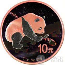 FUKANG Chinese Panda Atlas of Meteorites Moneda Plata 10 Yuan China 2016