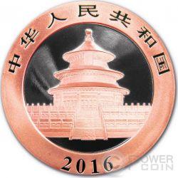 FUKANG Chinese Panda Atlas of Meteorites Moneda Plata 10 Yuan China 2016