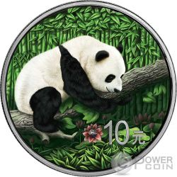 OUNCE OF SPACE Chinese Panda Nantan Meteorite Moneda Plata 10 Yuan China 2016