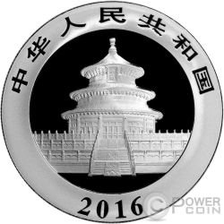 OUNCE OF SPACE Chinese Panda Nantan Meteorite Серебро Монета 10 Юаней Китай 2016