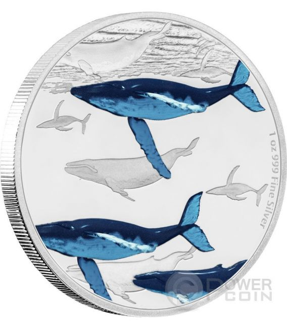 HUMPBACK WHALE Great Migrations 1 Oz Silber Münze 2$ Niue 2017