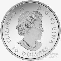 GRIZZLY BEAR Celebrating 150th Anniversary Moneda Plata 10$ Canada 2017
