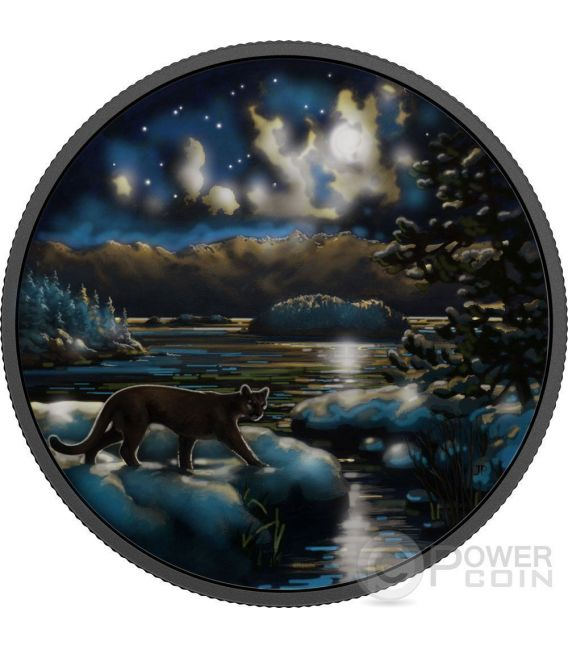 Cougar Animals In The Moonlight Glow In The Dark 2 Oz