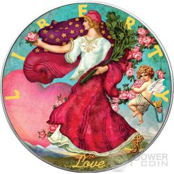 LOVE Amore Walking Liberty Silver Eagle 1 Oz Moneta Argento 1$ US Mint 2016