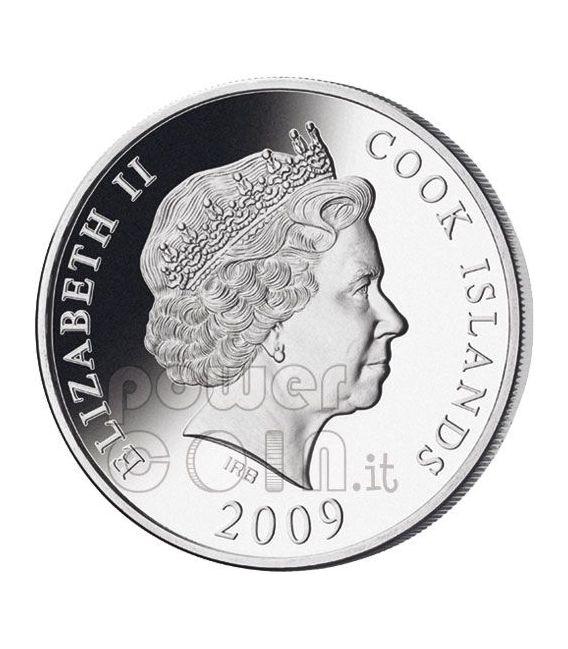 NOBEL Alfred Mondo Della Finanza Moneta Argento 10$ Cook Islands 2009