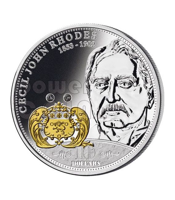 RHODES Cecil Financial Tycoons Silber Münze 10$ Cook Islands 2009
