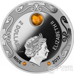 FALCON OF TUTANKHAMUN Horus Amber 2 Oz Moneda Plata 2$ Niue 2017