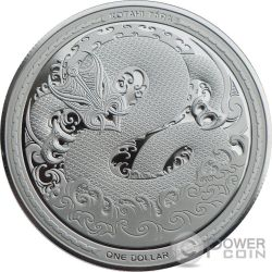 MYTHICAL TANIWHA Maori Kotahi Tara 1 Oz Silber Münze 1$ New Zealand 2017