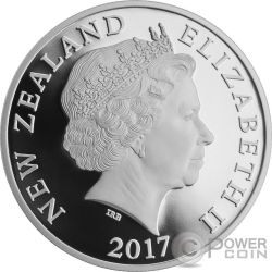 MYTHICAL TANIWHA Maori Kotahi Tara 1 Oz Moneda Plata 1$ New Zealand 2017