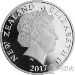 MYTHICAL TANIWHA Maori Kotahi Tara 1 Oz Серебро Монета 1$ Новая Зеландия  2017