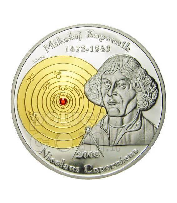 COPERNICO Niccolo Set 2 Monete Oro 10$ Argento 5$ Cook Islands 2008