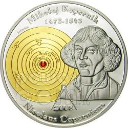 COPERNICUS Nicolaus 2 Gold Silver Coin Set 5$ 10$ Cook Islands 2008