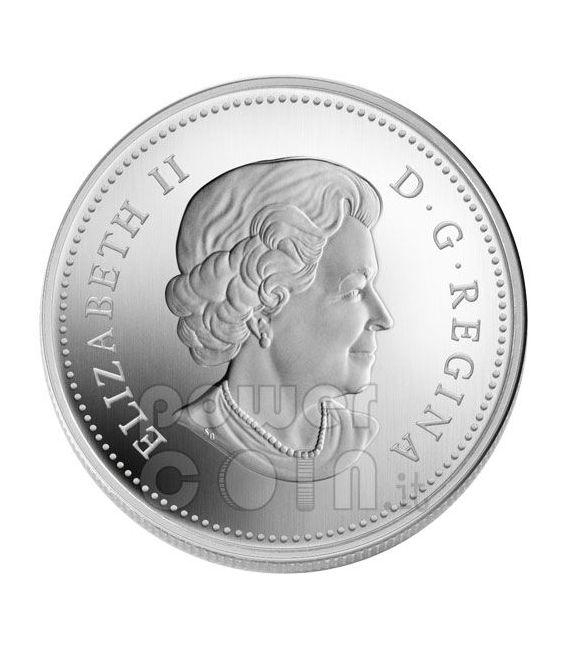 WATER LILY Lotus Silver Coin Swarovski Crystal 20$ Canada 2010